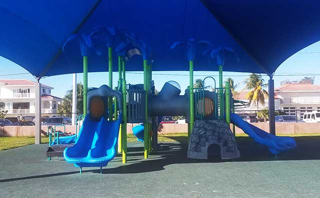 playground inspection + disinfection